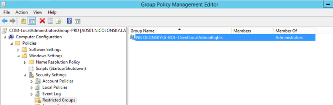 Group Policy Restricted Groups