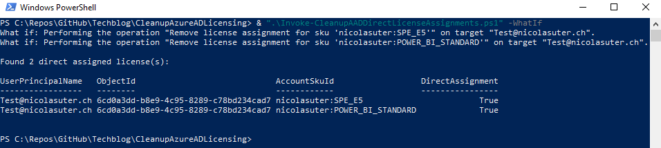 Remove Azure AD direct License Assignments with PowerShell Script